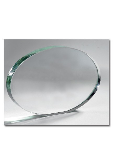 Oval Glass Trophy 18x12cm
