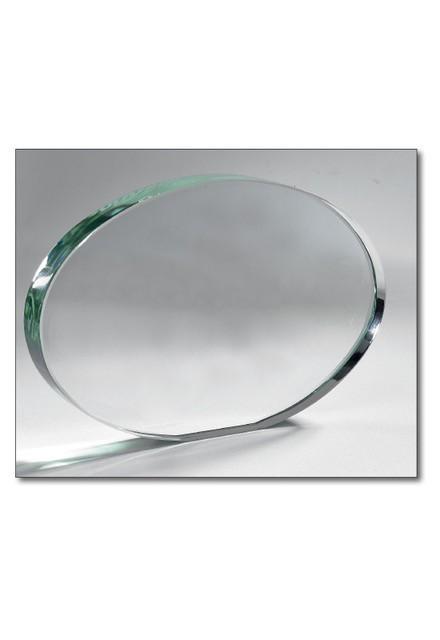 Oval Glass Trophy 21x15cm