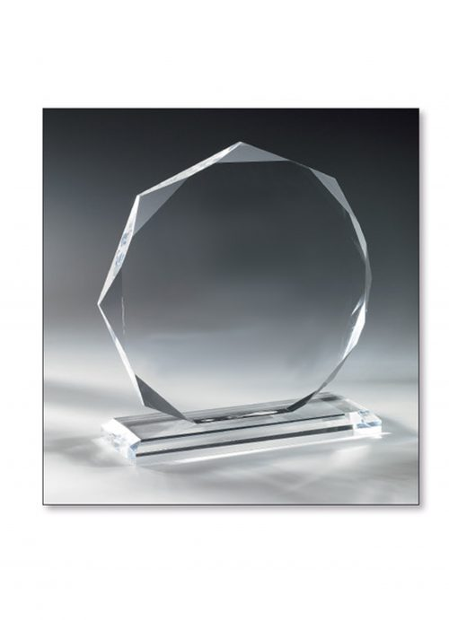 20cm Diamond Glass Trophy