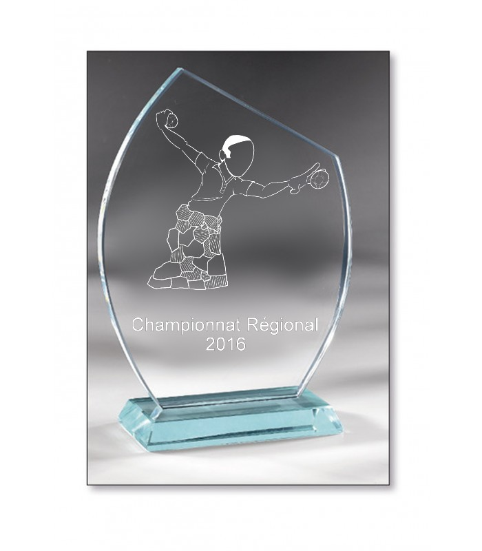 Beveled Glass trophy 17cm