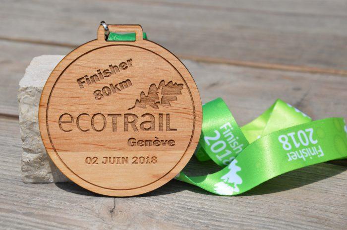 Engraved Wooden Medal