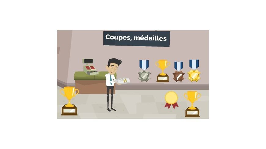 récompense sportive, trophées, médailles
