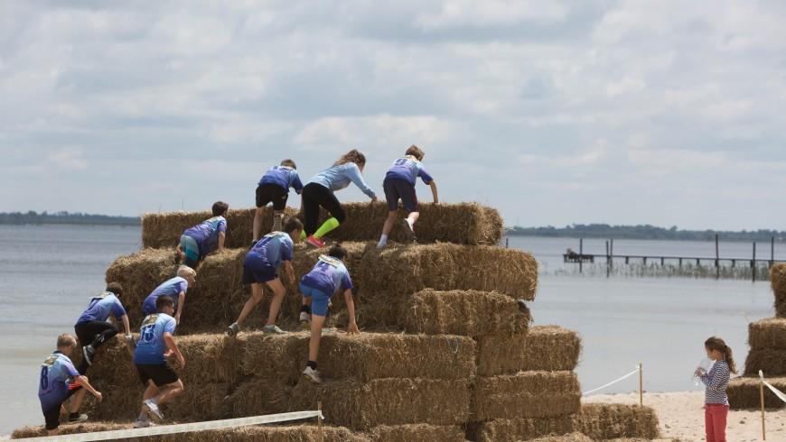 Run an obstacle race